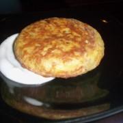 Mini tortilla española con cebolla