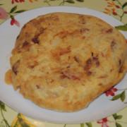 Mini tortilla española con chorizo de matanza